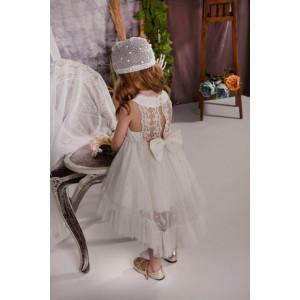 Ολοκληρωμένο πακέτο σετ βάπτισης με αυτό το φόρεμα Baby bloom 120.124 narlis.gr