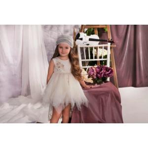 Ολοκληρωμένο πακέτο σετ βάπτισης με αυτό το φόρεμα Baby bloom 120.116 narlis.gr