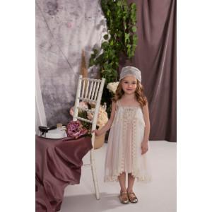 Ολοκληρωμένο πακέτο σετ βάπτισης με αυτό το φόρεμα Baby bloom 120.127 narlis.gr
