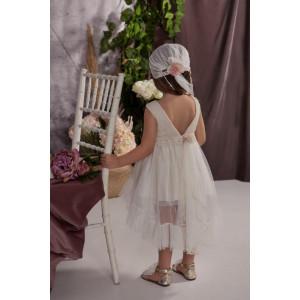 Ολοκληρωμένο πακέτο σετ βάπτισης με αυτό το φόρεμα Baby bloom 120.128 narlis.gr
