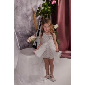 Ολοκληρωμένο πακέτο σετ βάπτισης με αυτό το φόρεμα Baby bloom 120.107 narlis.gr