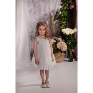 Ολοκληρωμένο πακέτο σετ βάπτισης με αυτό το φόρεμα Baby bloom 120.106 narlis.gr
