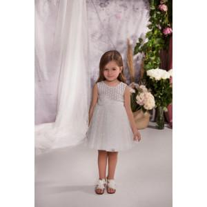 Ολοκληρωμένο πακέτο σετ βάπτισης με αυτό το φόρεμα Baby bloom 120.148 narlis.gr
