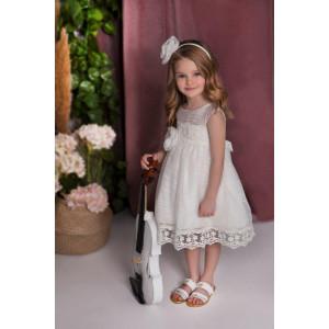 Ολοκληρωμένο πακέτο σετ βάπτισης με αυτό το φόρεμα Baby bloom 120.103 narlis.gr