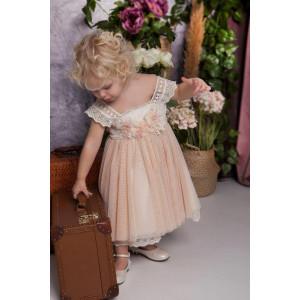 Ολοκληρωμένο πακέτο σετ βάπτισης με αυτό το φόρεμα Baby bloom 120.139 narlis.gr