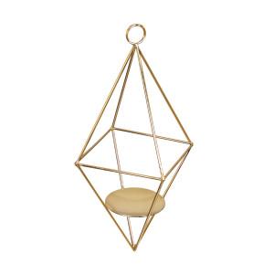 Στολισμός για λαμπάδες κεριών  γάμου Χρυσή πυραμίδα 7808 Η τιμή αφορά 2 Τεμάχια