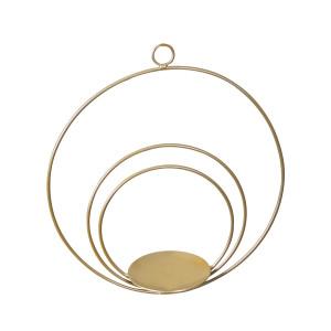 Στολισμός για λαμπάδες κεριών  γάμου Χρυσοί κύκλοι 7908 Η τιμή αφορά 2 Τεμάχια