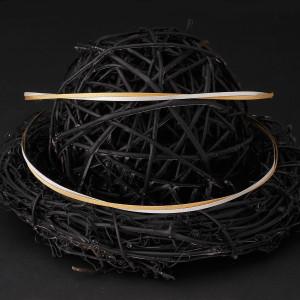 Στέφανα γάμου ασήμι 925 βέργες από χρυσό 24 καρατίων και ασήμι (Authentique art Κωδ.Σ0190)