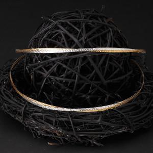 Στέφανα γάμου ασήμι 925 βέργες από χρυσό 24 καρατίων και ασήμι (Authentique art Κωδ.Σ0270)
