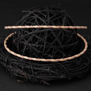 Στέφανα γάμου από φυσικό ξύλο με ασήμι 925 και ροζ gold (Authentique art Κωδ.Ξ0420)