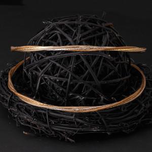 Στέφανα γάμου από ξύλο με ασήμι 925 και gold 24 καρατίων (Authentique art Κωδ.Ξ0417)