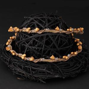 Στέφανα από ξύλο, ασήμι 925 και πορσελάνη με χρυσό 24 καρατίων (Authentique art Κωδ.ΠΣ0435)