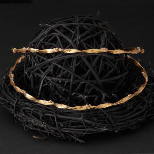 Στέφανα γάμου ασήμι 925 με χρυσό 24 καρατίων (Authentique art Κωδ.Σ0590)