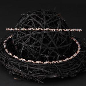 Στέφανα γάμου ασήμι 925 ροζ gold και πέτρες Swarovski ιριζέ (Authentique art Κωδ.Σ0807)