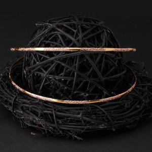 Στέφανα γάμου ασήμι 925, δίχρωμο ροζ gold και χρυσό (Authentique art Κωδ.Σ0823)