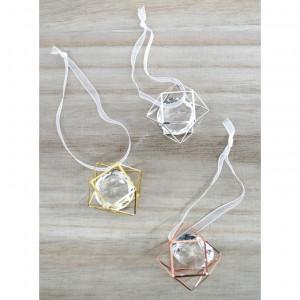 Μπομπονιέρες Γάμου Βάπτισης Διαμάντι Μεταλλικό Γεωμετρικό Σχήμα Δ1-Δ2-Δ3  Riniotis