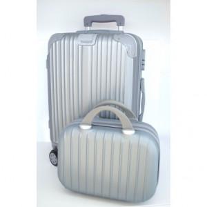 Βαλίτσες ταξιδιού ΒΑΛ25 Ασημί narlis.gr