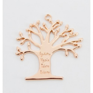 Μπομπονιέρες Γάμου Ροζ Χρυσό Δέντρο Ζωής Μεταλλικό με Ευχές και Κρίκο Μ43Ρ  Riniotis
