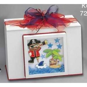 Κουτί ξύλινο πειρατής Κωδ.Κ64