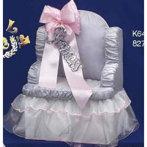 Πολυθρόνα ξύλινη με σατέν Princess Κωδ.Κ645