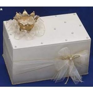 Κουτί ξύλινο με μεταλλική κορώνα Κωδ.Κ711