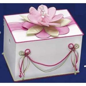 Κουτί ξύλινο με υφασμάτινο νούφαρο Κωδ.Κ76