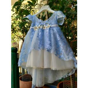 Ολοκληρωμένο πακέτο βάπτισηs με αυτό το Φόρεμα Bambolino (Κωδ.8773-12) Με βαλίτσα rain ή παγκάκι θρανίο!!