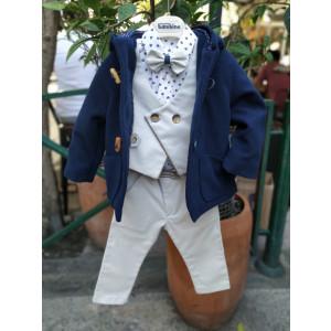 Ολοκληρωμένο σετ βάπτισης αγόρι Piccolo Bambino 19172 Με βαλίτσα rain η θρανίο παγκάκι!!!!