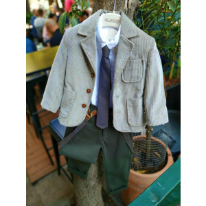 Ολοκληρωμένο σετ βάπτισης αγόρι Neonato με σακάκι και μπουφάν 152341  Με βαλίτσα rain η θρανίο παγκάκι!!!!
