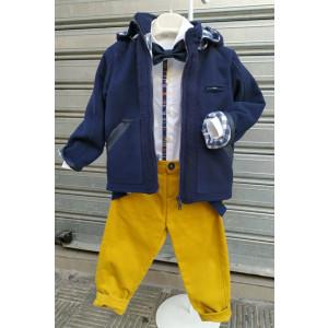 Ολοκληρωμένο σετ βάπτισης αγόρι Mi Chiamo 15284c Προσφορά Με βαλίτσα rain η θρανίο παγκάκι!!!!