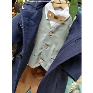 Ολοκληρωμένο σετ βάπτισης αγόρι Carrousel 3276-88 Με βαλίτσα rain η θρανίο παγκάκι!!!!