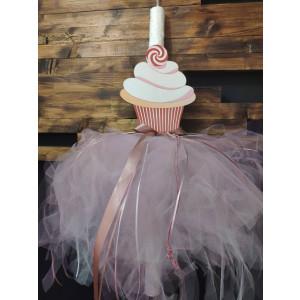 Λαμπάδα cup cake ΜΑΚ17