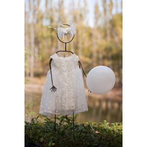Ολοκληρωμένο πακέτο βάπτισηs με αυτό το Φόρεμα (angels wings Κωδ.011-90) Με βαλίτσα rain η θρανίο παγκάκι!!!!
