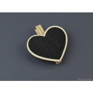 Καρδιά Μαυροπίνακας με  Μανταλάκι  (Nuova Vita) (Κωδ.ΝΚ044Η)