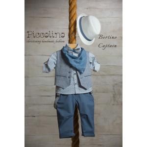 Ολοκληρωμένο πακέτο βάπτισηs με αυτό το κουστούμι (Piccolino BERTINO #AG19S14-135#CAPTAIN) (Με Βάλίτσα η παγκάκι θρανίο) Δωρεάν μεταφορικά!!