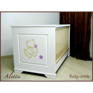 Κρεβάτι Baby Smile Aletta Με Ζωγραφιά (Ρωτήστε για την προσφορά) (00289)