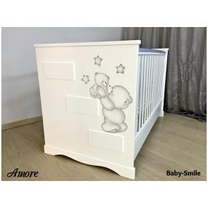Κρεβάτι Baby Smile Amore Με Ζωγραφιά (Ρωτήστε για την προσφορά) (00289)