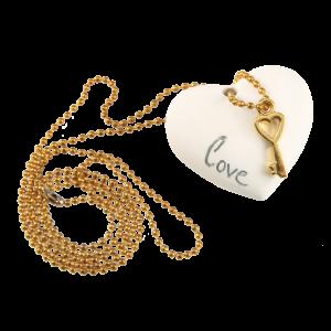 Μπομπονιέρα Γάμου Καρδιά με Κλειδάκι Κρεμαστή  82017Α-125 Andronidis Ζητήστε προσφορά !!!!
