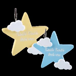 Μπομπονιέρα Βάπτισης Αστέρι Σιέλ & Κίτρινο με Ευχούλα (σετ των 2) 802Α-146 Andronidis Ζητήστε προσφορά !!!!