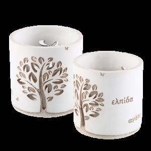 Μπομπονιέρα Γάμου Χειροποίητη Δέντρο της Ζωής Ευχών Κηροπήγιο 808-184 Andronidis
