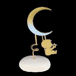 Μπομπονιέρα Βάπτισης Αγόρι με Φεγγάρι σε Βότσαλο 8948Α-220 Andronidis Ζητήστε προσφορά !!!!