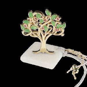 Μπομπονιέρα Γάμου-Βάπτισης Δέντρο με Στρασάκια σε Πέτρα 8928-195 Andronidis