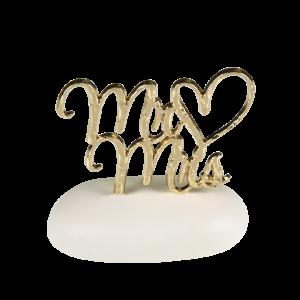 Μπομπονιέρα Γάμου Mr & Mrs σε Βότσαλο  8908-190 Andronidis Ζητήστε προσφορά !!!!