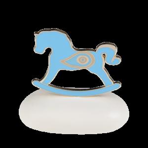 """Μπομπονιέρα Βάπτισης Αλογάκι """"Rocking Horse"""" με Μάτι σε Βότσαλο  8943Α-190  Andronidis Ζητήστε προσφορά !!!!"""