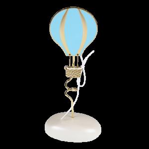 Μπομπονιέρα Βάπτισης Αερόστατο Γαλάζιο σε Βότσαλο 4105Α Andronidis Ζητήστε προσφορά !!!!