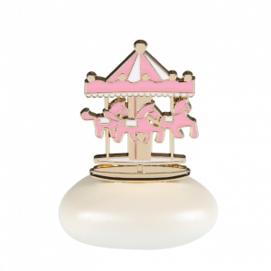 Μπομπονιέρα Βάπτισης Carousel Ροζ σε Βότσαλο  61205Β  Andronidis Ζητήστε προσφορά !!!!