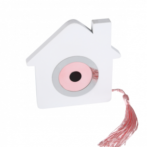 Μπομπονιέρα Βάπτισης Σπίτι με Ματάκι Ροζ Διακοσμητικό 8913Β-185 Andronidis Ζητήστε προσφορά !!!!