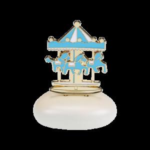 Μπομπονιέρα Βάπτισης Carousel Γαλάζιο σε Βότσαλο  61205A-180  Andronidis Ζητήστε προσφορά !!!!
