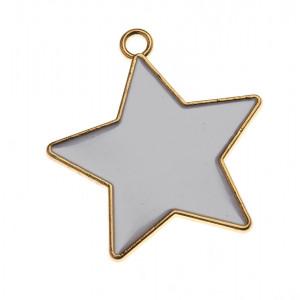 Διακοσμητικό Αστέρι Μεταλλικό  NU1810 Χρυσό Nuova Vita