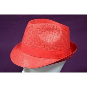 Καπέλο Ψάθινο με Κόκκινη Ρίγα (Κόκκινο) (Κωδ.592.512.001)